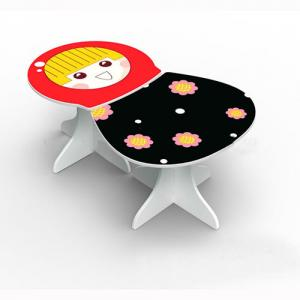 Children Furniture Preschool Children Table/Kids Study Table in 3D Russian Matryoshka Shape Cartoon
