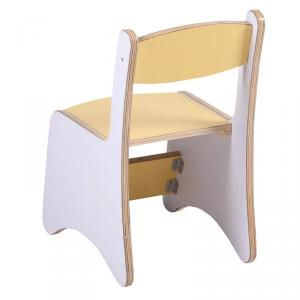 Multilayer Wooden Kids' Chair for Preschool Ergonomic Design Yellow
