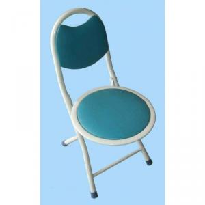 Foldable Blue Kids' Chair Made of PU and Metal with Ergonomic Design