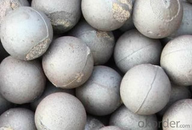 High Chromium Cast Grinding Ball with Top Quality Steel as Raw Material withch can be uesed in Mines