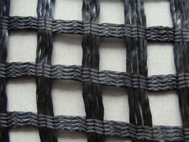 Polyester Geogrid for Road Surfaces Construction