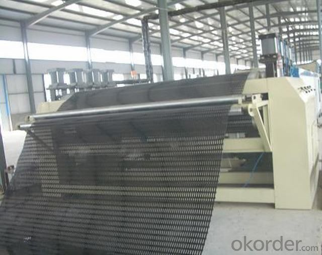 Warp Knitted Polyester Geogrid with PVC Coating