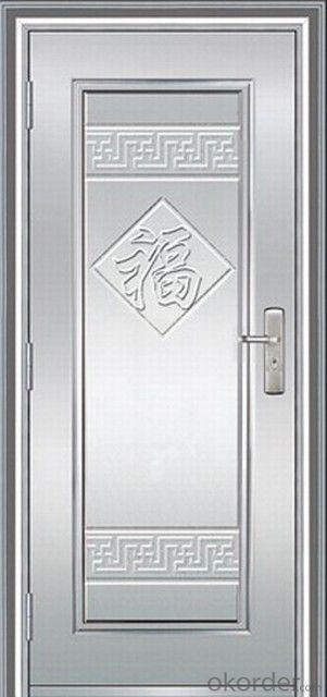 PVC Film Cold Rolling Steel Security Door