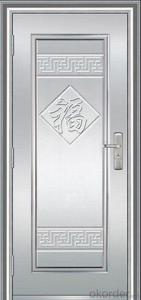 PVC Film Cold Rolling Steel Security Door