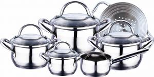 11pcs Stainless Steel Cookware Sets