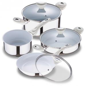 8pcs Nonstick Stainless Steel Cookware