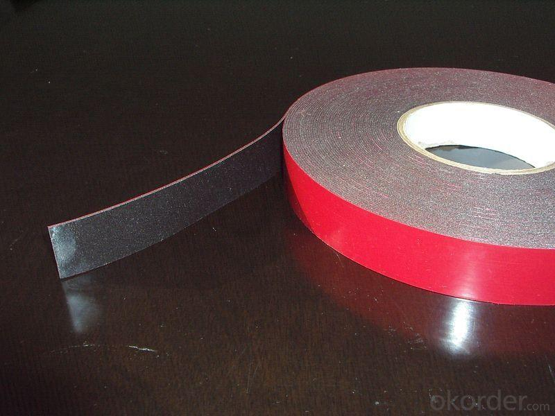Black Double Sided Foam Tape With High Adhesion