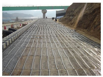 HDPE Uniaxial Geogrid with High Tensile Strength for Retaining Wall/Road Consturction