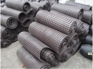 Polyester Geogrid with PVC Coated Warp Knitted for Roadbed/Airport/Railway/Slope/Retaining