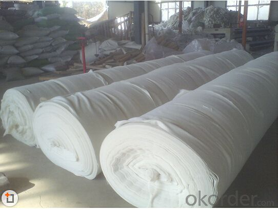 Needle Punched Short Fiber Nonwoven Polyester Geotextile 100g for Construction Use