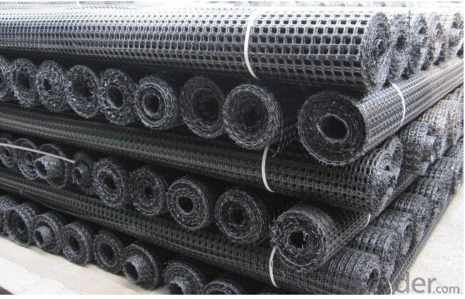 Polyester Geogrid with PVC Coating(Warp Knitting) 13% Elongation/30KN*30KN-200KN*120KN