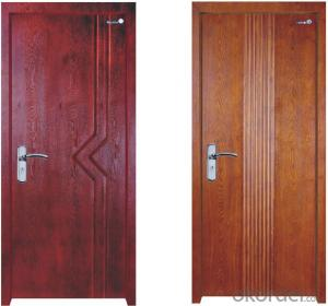 Solid Wood Security Door Manufactory wigh High Quality