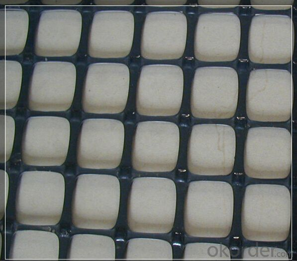 Wrap Knitting Polyester Geogrid with PVC Coated for Roadbed/Airport/Railway Reinforcement