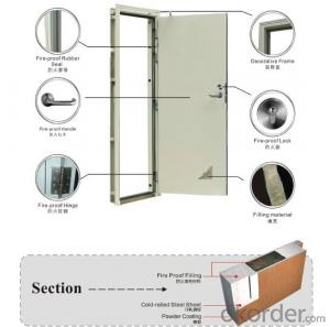 Steel Fire Proof Door Manufactory with Good Quality