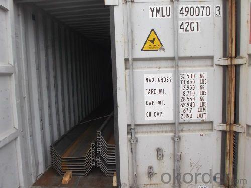 U Steel Sheet Pile/ 400*100*10.5mm/ Export Steel Sheet Pile