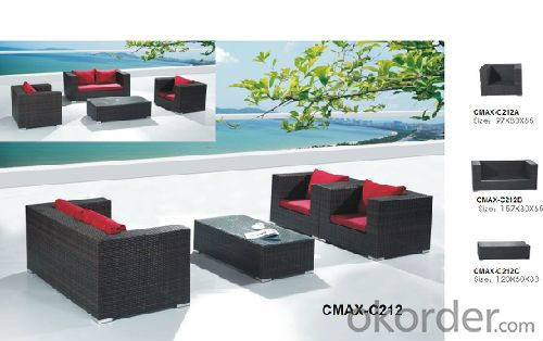 rattan&wicker sofa set outdoor furniture