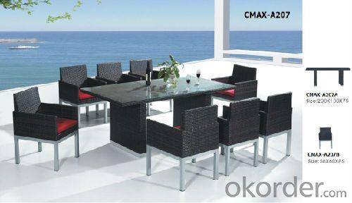New Design Rattan Garden Furniture Dining Set CMAX-A207