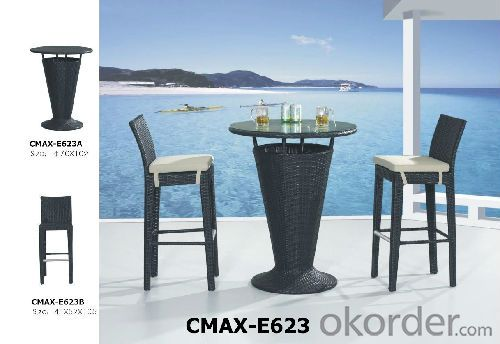 High Quality Aluminum Frame PE Rattan Outdoor Furniture Bar Sets CMAX-E623