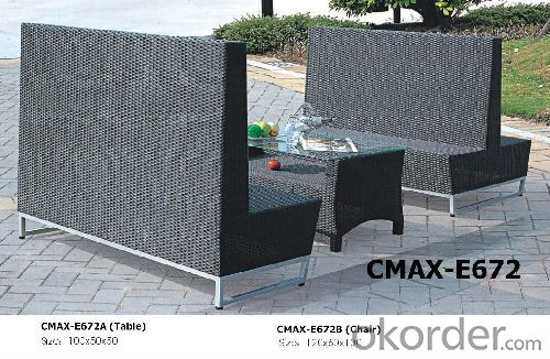 Fashionable Garden Outdoor Furniture for Resturant Two Sides Chair CMAX-E672