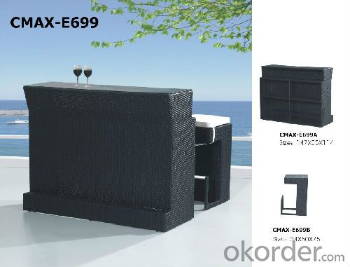 Fashion Rattan Bar Set for Outdoor Furniture CMAX-E699
