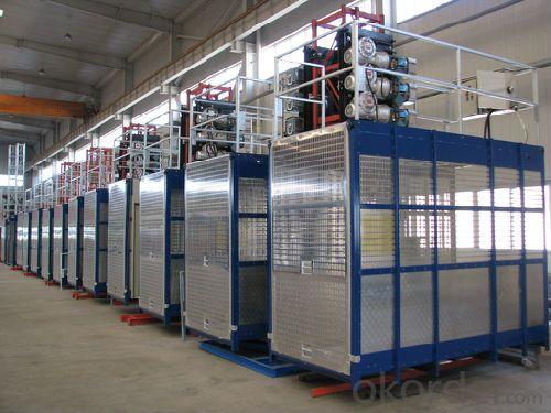 Building Hoist SC250/250 for Material Transporting