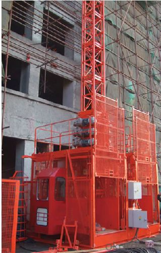 Construction hoist SC150D,steel structure uses quality steel from famous domestic manufactures