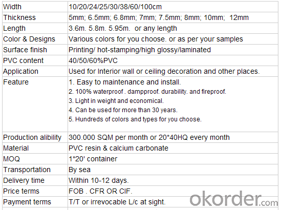 Manufacture Wooodgrain PVC Panel &PVC Door Panel&PVC Profile
