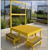 Yellow Color FRP Grating for Walkway