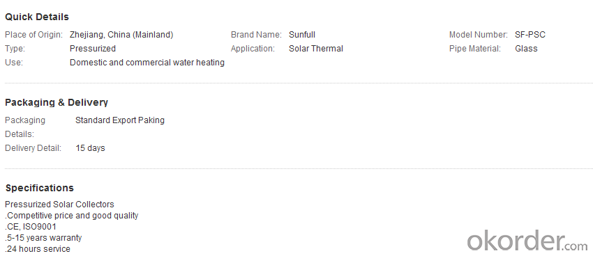 Trough type solar heat collector  In trough solar thermal field