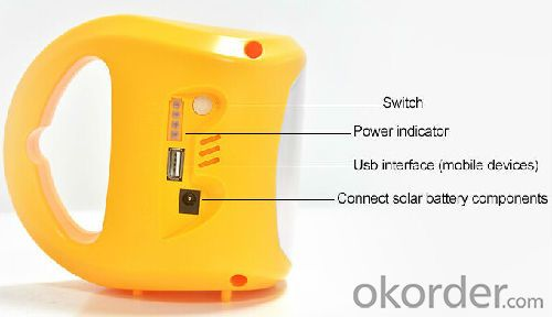 5.5V Solar lantern with AC charger and PV module