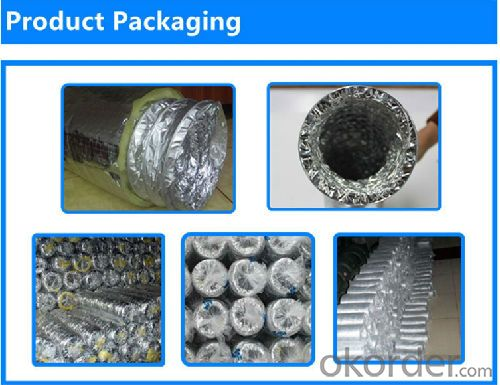Insulated Acoustic  Flexible Duct Aluminum Foil Flexible Duct