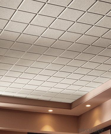 Fissured/Pinhole/Sand acoustic mineral ceiling tiles