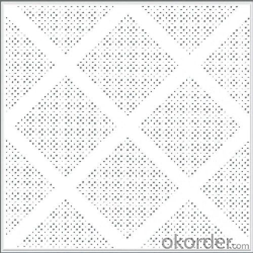 Mineral Fiber Board Ceiling Acoustic Ceiling Tile 12mm/15mm, 60x60cm