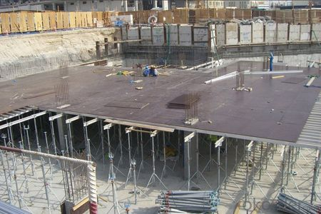 Aluminum-Frame Formwork in Concrete Process