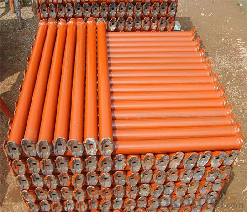 Tubular steel shoring prop scaffolding for construction