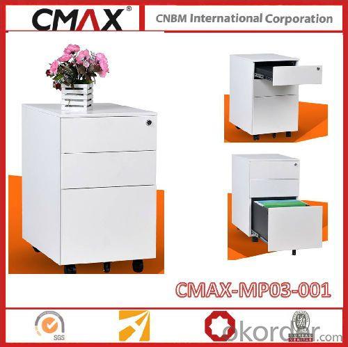 Steel Filing drawer Cabinet Mobile Pedestal 3 Drawer Cabinet Cmax-MP03-001