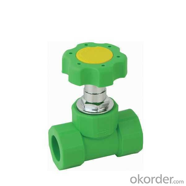 High  Quality  PP-R single female threaded stop valve