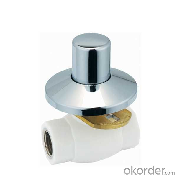 High Quality E6 type PPR double female threaded concealed ball valve with brass ball