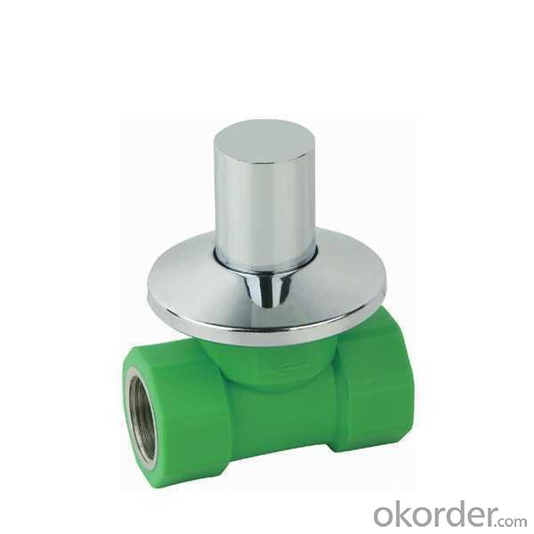 High Quality  PP-R double female threaded concealed  stop valve