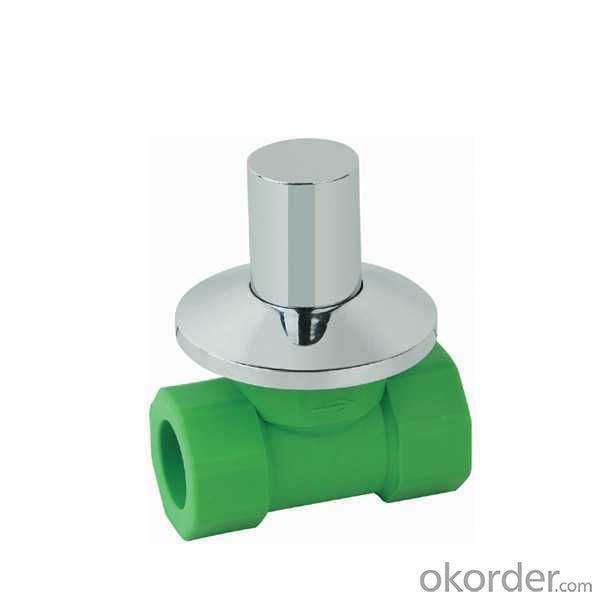 High  Quality  PPR single  female  threaded  concealed  stop  valve