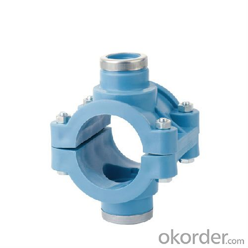 High  Quality  Double clamp saddle with reinforcing ring PN16