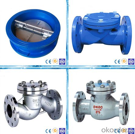 high quality ductile iron cast iron flanged swing check valve