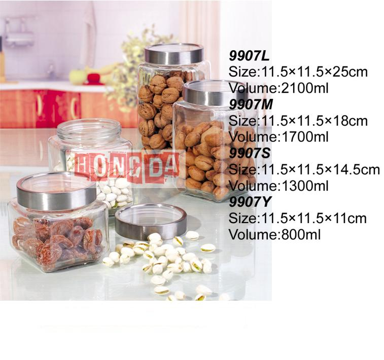 Glass Storage Jar 9907
