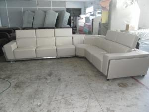 Australia style living room genuine leather / PVC sofa 8010