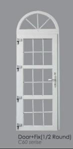 PVC Fixed Window with Soundproof and Double Glass and Dust Resistance