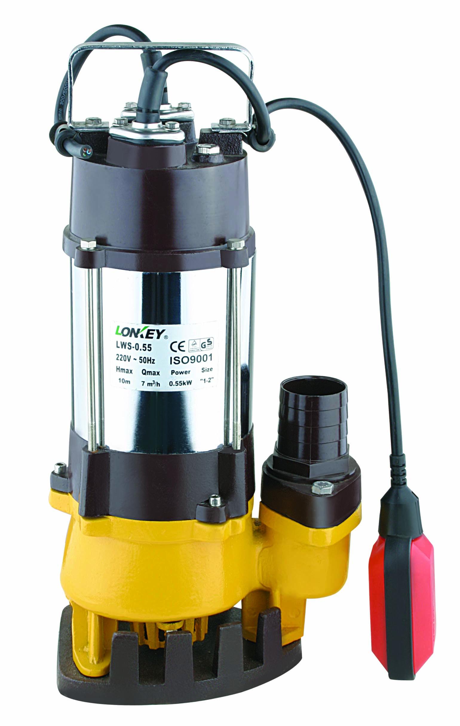 Submersible Water Pump, Sewage Submersible Pump LWS-0.75F