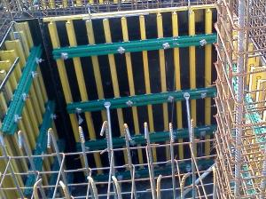 Custom High Security H20 Timber Beam Formwork for Straight Concrete Wall