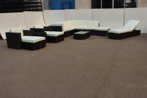 Popular Outdoor Rattan Sofa set for garden waterproof cushion