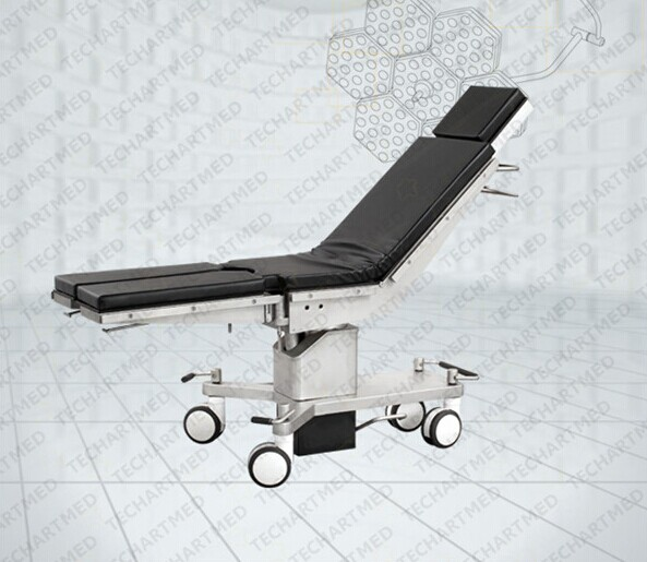 Newest mechnical-hydraulic operating table with large castors