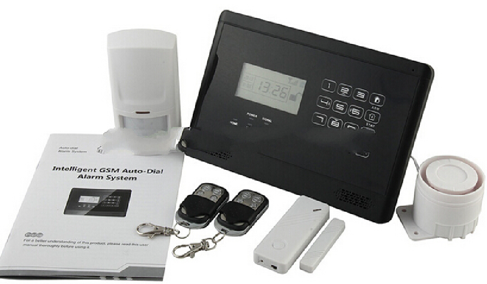 Security Alarmas System With LCD Display And Touch Keypad